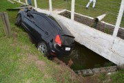 Condutor colide em muro de empresa após perder o controle